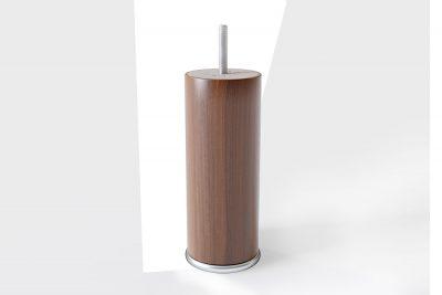 Cilindro formos medinės kojelės (riešutmedžio spalva)