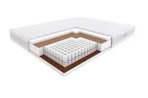 Kietas dvigulis spyruoklinis čiužinys lovai Hilding Pasodoble Velvet-struktūra