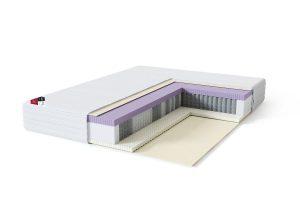 Vidutinio kietumo viengulis spyruoklinis lateksinis čiužinys Sleepwell BLACK Multipocket Lux-struktūra