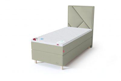 Sleepwell RED Continental viengulė lova / RED Geometry galvūgalis šviesiai žalia spalva / TOP HR Foam antčiužinis