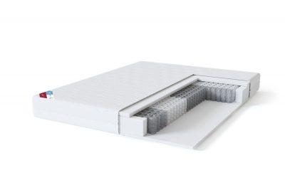 Kietas dvigulis spyruoklinis čiužinys internetu Sleepwell BLUE Pocket-struktūra