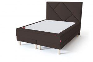 Sleepwell RED Continental Base dvigulė miegamojo lova su čiužiniu / RED Geometry galvūgalis / TOP HR Foam Plus antčiužinis ruda spalva