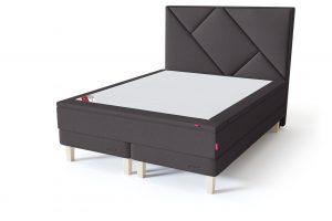 Sleepwell RED Continental Base dvigulė miegamojo lova su čiužiniu / RED Geometry galvūgalis / TOP HR Foam Plus antčiužinis tamsiai pilka spalva