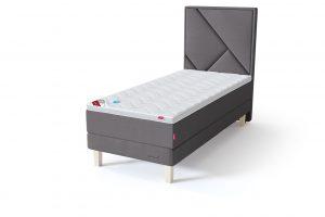Sleepwell RED Continental Base viengulė miegamojo lova su čiužiniu / TOP HR Foam Plus antčiužinis pilka spalva