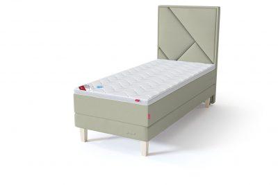 Sleepwell RED Continental Base viengulė miegamojo lova su čiužiniu / TOP HR Foam Plus antčiužinis šviesiai žalia spalva