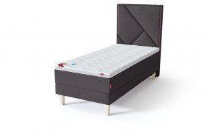 Sleepwell RED Continental Base viengulė miegamojo lova su čiužiniu / TOP HR Foam Plus antčiužinis tamsiai pilka spalva