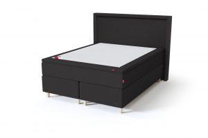 Sleepwell BLACK Continental tipo dvigulė miegamojo lova su čiužiniu / BLACK Lined galvūgalis / TOP Latex Lux antčiužinis, juoda spalva