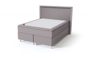 Sleepwell BLACK Continental tipo dvigulė miegamojo lova su čiužiniu / BLACK Lined galvūgalis / TOP Latex Lux antčiužinis, pilka spalva