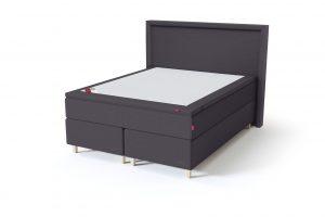 Sleepwell BLACK Continental tipo dvigulė miegamojo lova su čiužiniu / BLACK Lined galvūgalis / TOP Latex Lux antčiužinis, tamsiai pilka spalva