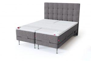 Sleepwell RED motorinė lova / RED Aratorp galvūgalis, pilka spalva