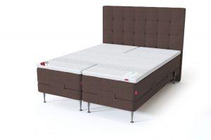 Sleepwell RED motorinė lova / RED Aratorp galvūgalis, ruda spalva