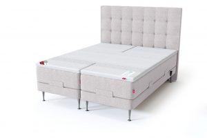 Sleepwell RED motorinė lova / RED Aratorp galvūgalis, smėlio spalva