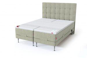 Sleepwell RED motorinė lova / RED Aratorp galvūgalis, šviesiai žalia spalva