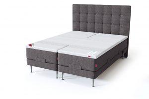 Sleepwell RED motorinė lova / RED Aratorp galvūgalis, tamsiai pilka spalva