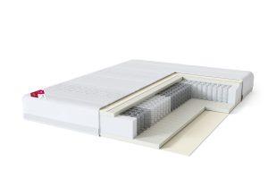 Vidutinio kietumo viengulis spyruoklinis lateksinis lovos čiužinys Sleepwell RED Pocket Etno Hard-struktūra