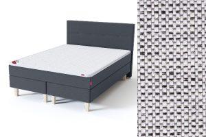 Sleepwell BLUE Continental tipo dvigulė lova su čiužiniu / BLUE H35 galvūgalis / TOP Profiled Foam antčiužinis šviesiai pilka spalva-audinys