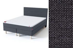 Sleepwell BLUE Continental tipo dvigulė lova su čiužiniu / BLUE H35 galvūgalis / TOP Profiled Foam antčiužinis tamsiai pilka spalva-audinys