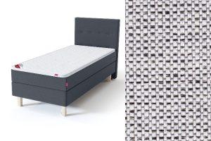 Sleepwell BLUE Continental tipo viengulė lova su čiužiniu / BLUE H35 galvūgalis / TOP Profiled Foam antčiužinis šviesiai pilka spalva-audinys
