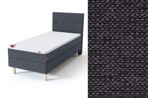 Sleepwell BLUE Continental tipo viengulė lova su čiužiniu / BLUE H35 galvūgalis / TOP Profiled Foam antčiužinis tamsiai pilka spalva-audinys