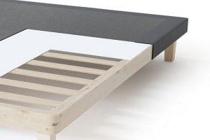 Sleepwell BLUE Frame viengulės lovos rėmas, tamsiai pilka spalva-struktūra