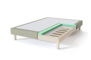 Sleepwell RED Frame dvigulės lovos rėmas, šviesiai žalia spalva-struktūra
