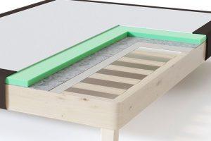 Sleepwell RED Frame viengulės lovos rėmas, ruda spalva-struktūra