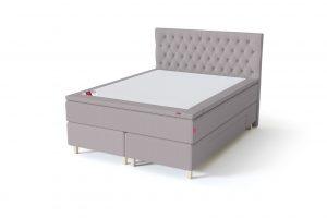 Sleepwell BLACK Continental tipo dvigulė miegamojo lova su stalčiais, BLACK Solhall chester tipo lovos galvūgalis, pilka spalva