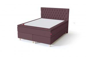 Sleepwell BLACK Continental tipo dvigulė miegamojo lova su stalčiais, BLACK Solhall chester tipo lovos galvūgalis, rausvai ruda spalva
