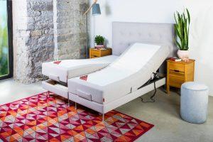 Sleepwell RED motorinė lova / RED Aratorp galvūgalis - interjeras